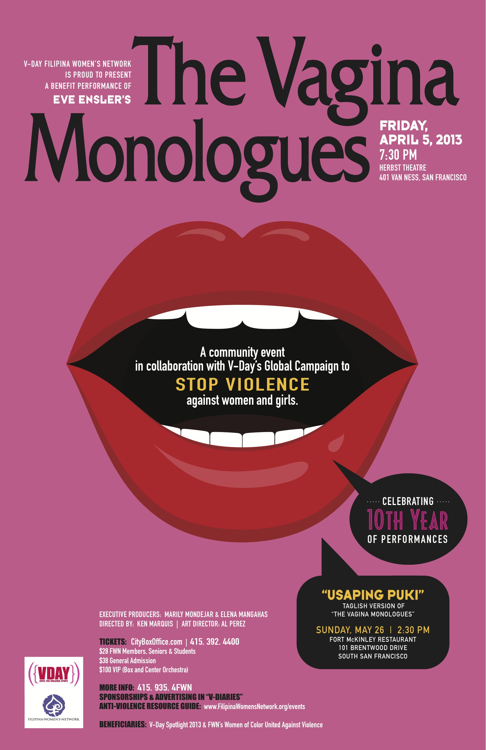 The Vagina Monologues 2013
